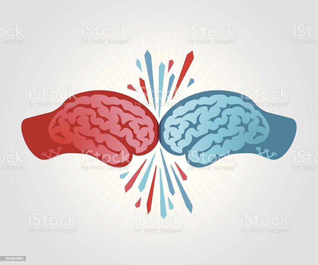 Clash of the Brains vector art illustration