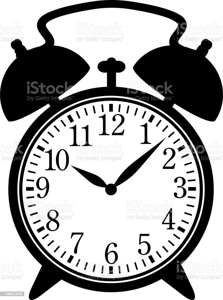 Classic alarm clock royalty-free stock vector art