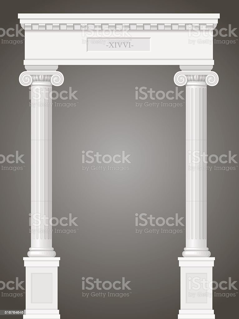Classic antique portal vector art illustration