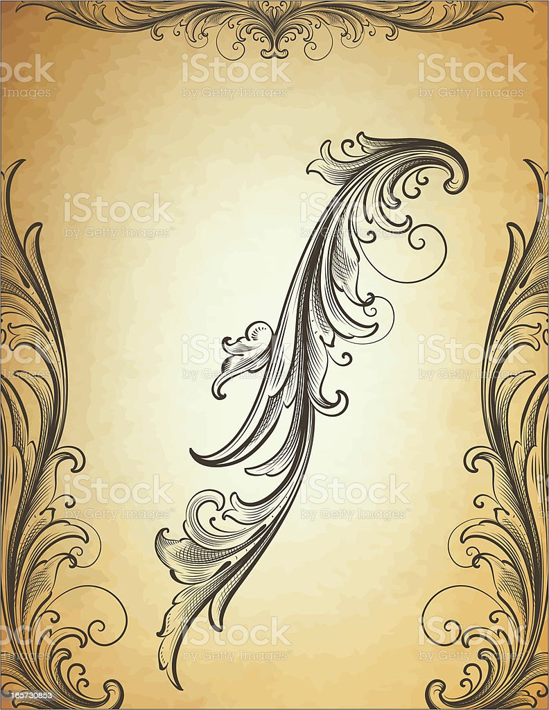 Classic Arabesque Scrollwork royalty-free stock vector art