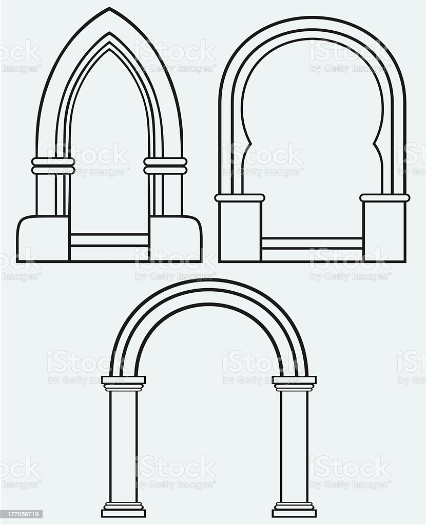 Classic arch royalty-free stock vector art