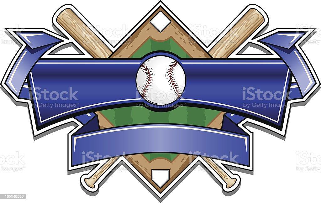 Classic Baseball Banner Logo vector art illustration