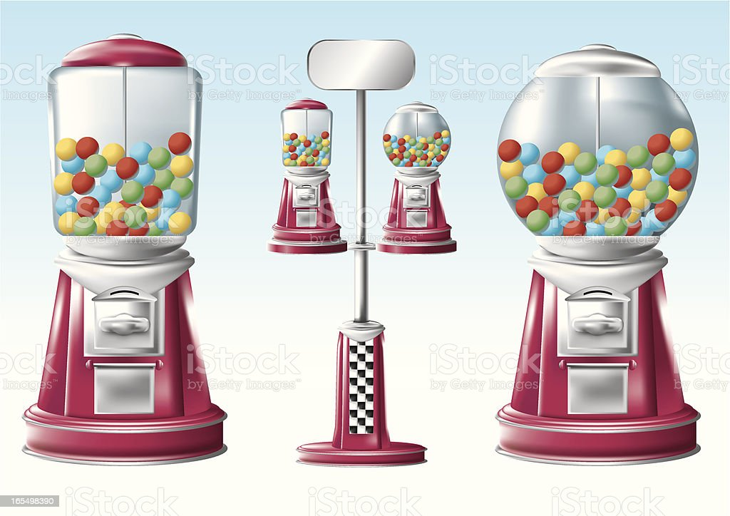Classic Bubble Gum Machine royalty-free stock vector art