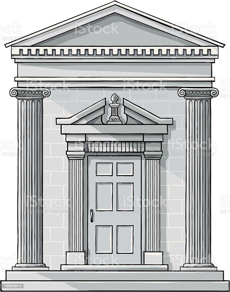 Classic Building Facade vector art illustration