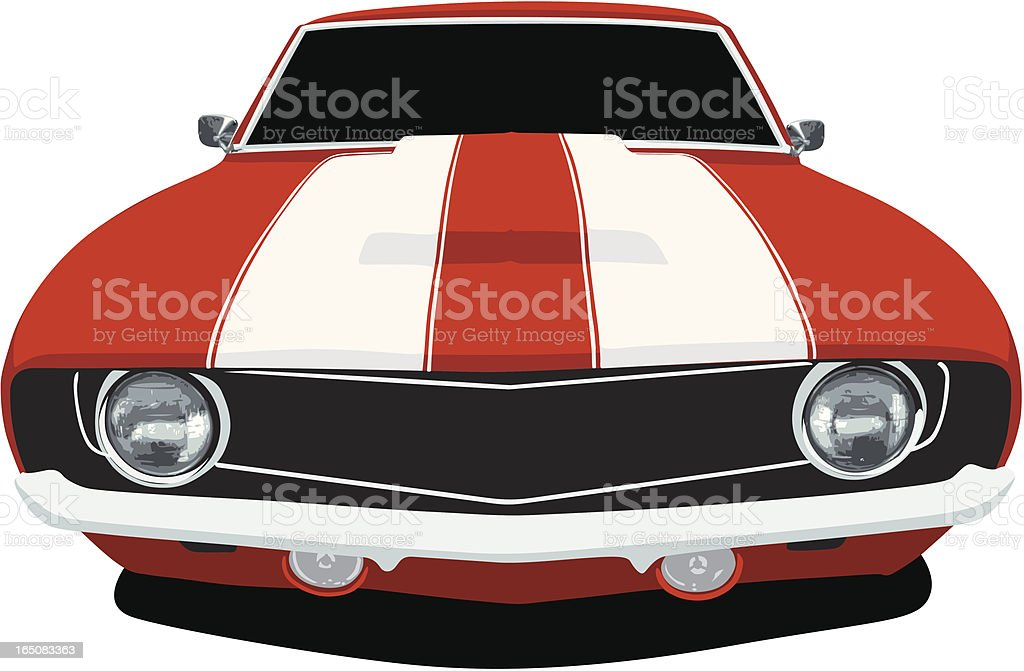 Classic Camaro - Front View vector art illustration