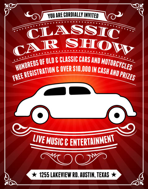 Car Show Clip Art, Vector Images & Illustrations - iStock