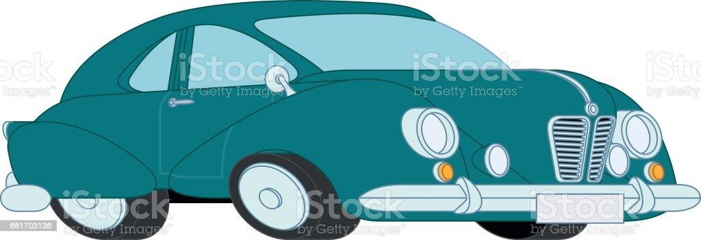 Classic Car vector art illustration