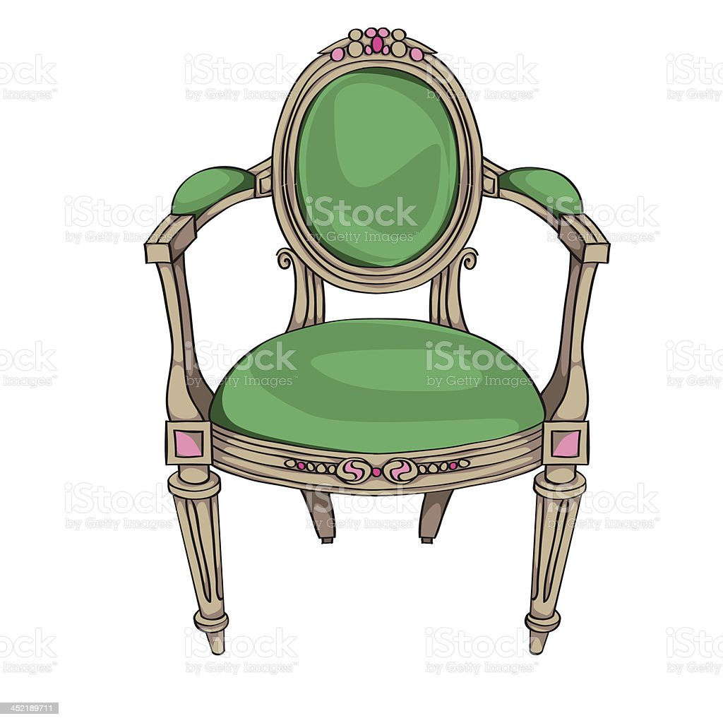 Classic chair royalty-free stock vector art