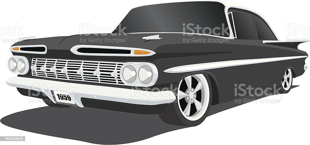 Classic Chevrolet Impala vector art illustration