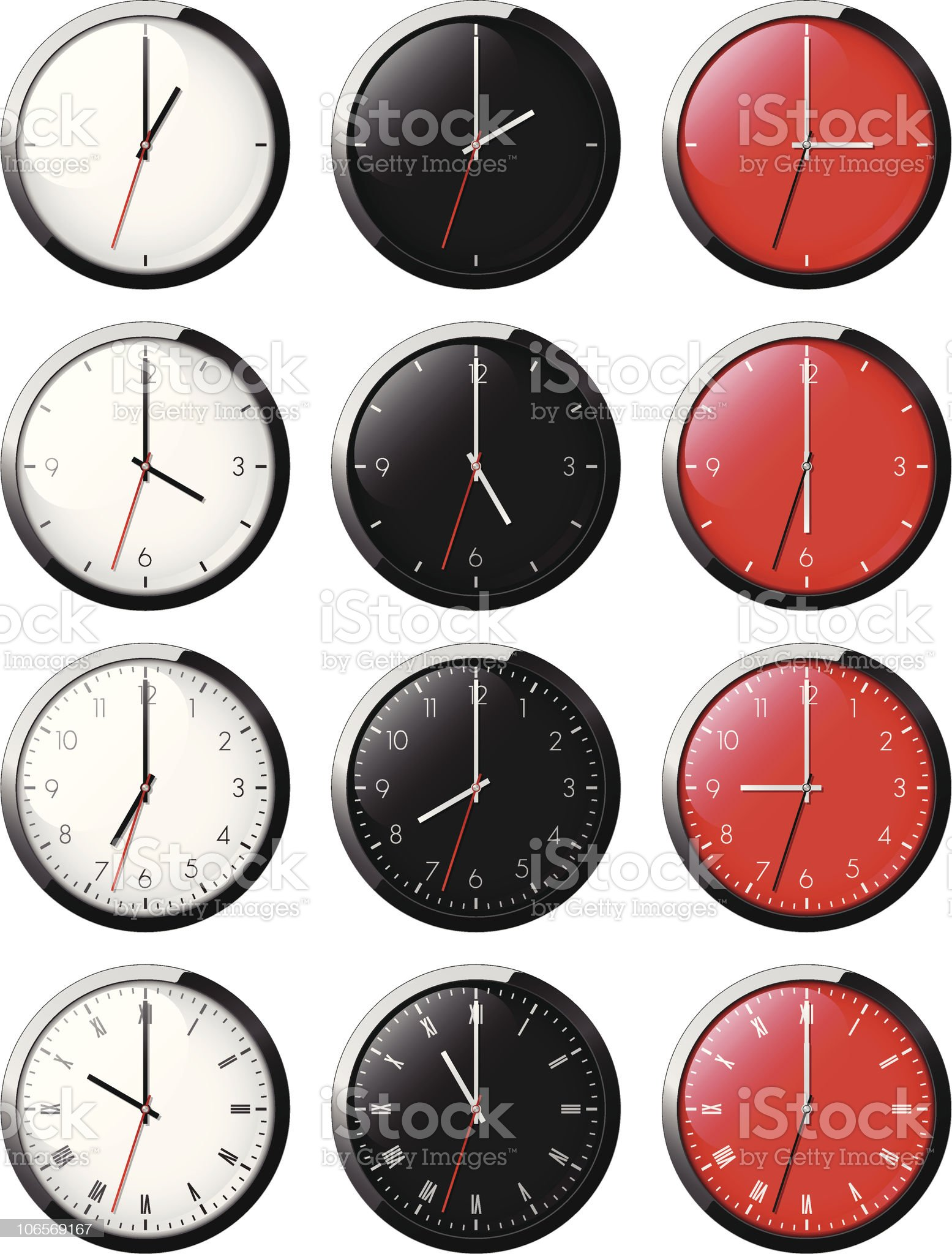 Classic clock royalty-free stock vector art