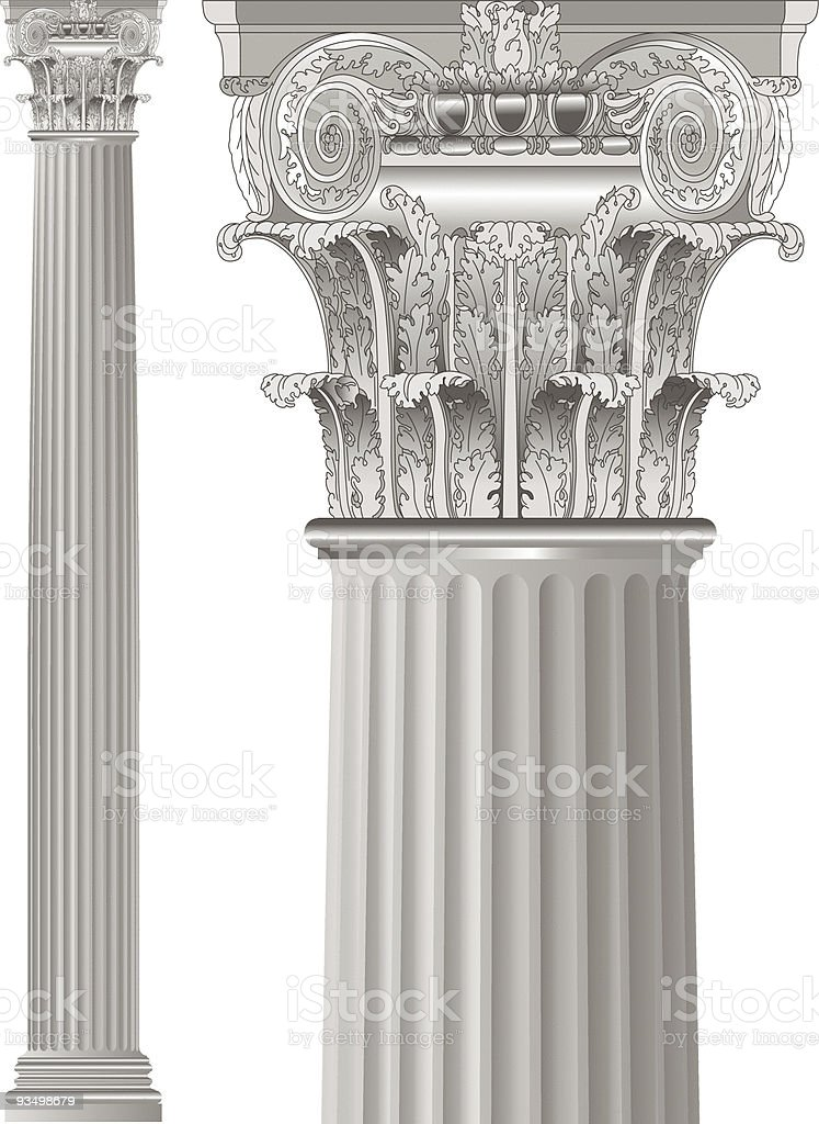 classic column royalty-free stock vector art