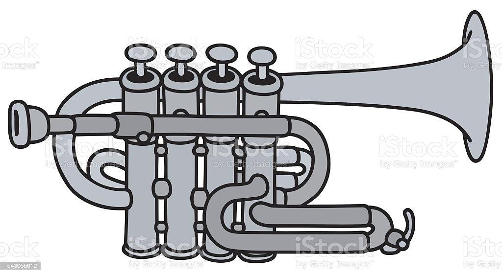 Classic concert trumpet vector art illustration