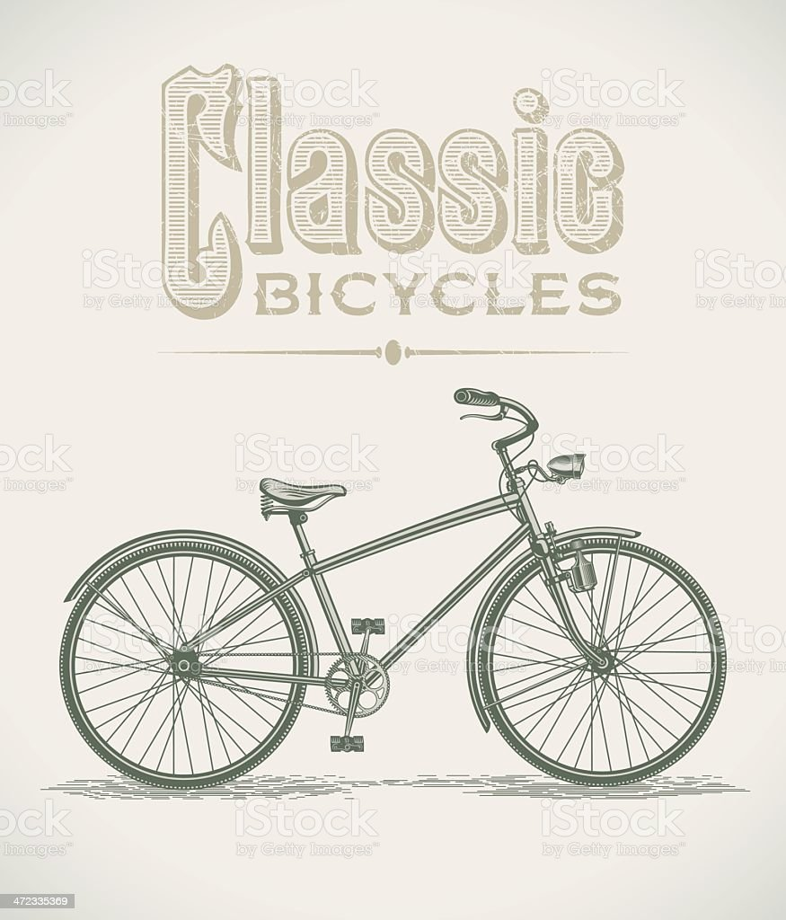 Classic cruiser bicycle royalty-free stock vector art