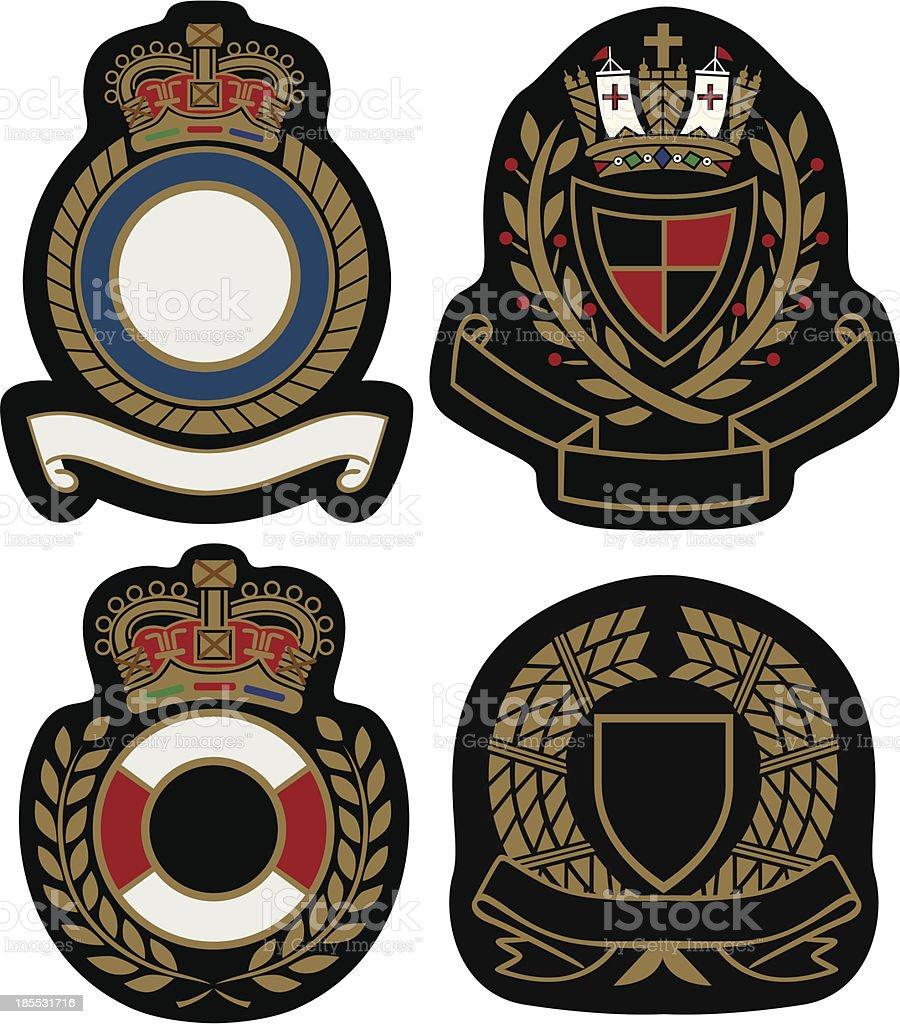 classic emblem badge shield royalty-free stock vector art