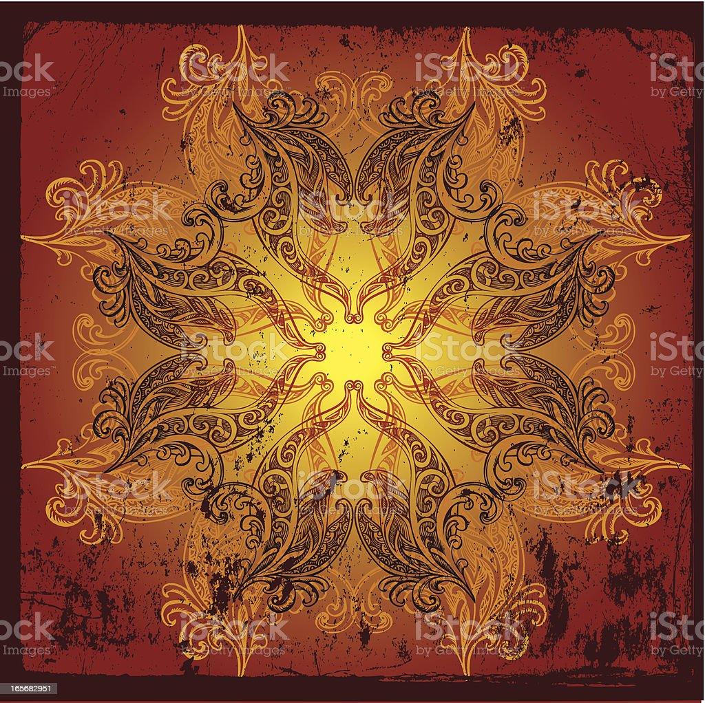 classic etching style mandala royalty-free stock vector art
