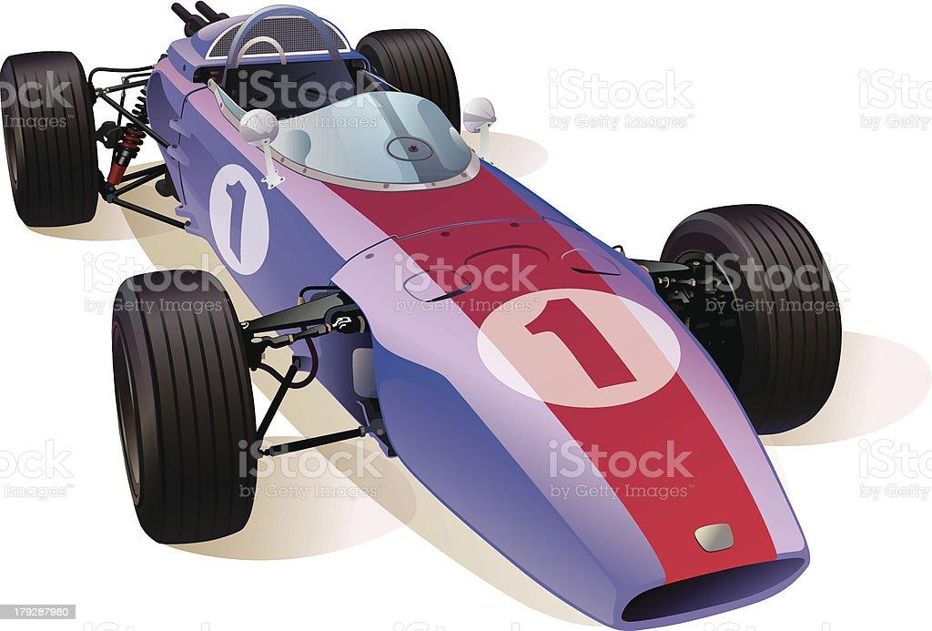 Classic F1 Racing Car royalty-free stock vector art