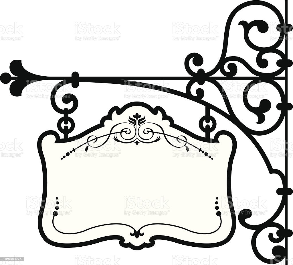 Classic Frame Sign royalty-free stock vector art