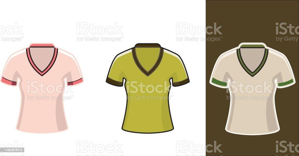 classic girls t-shirt royalty-free stock vector art