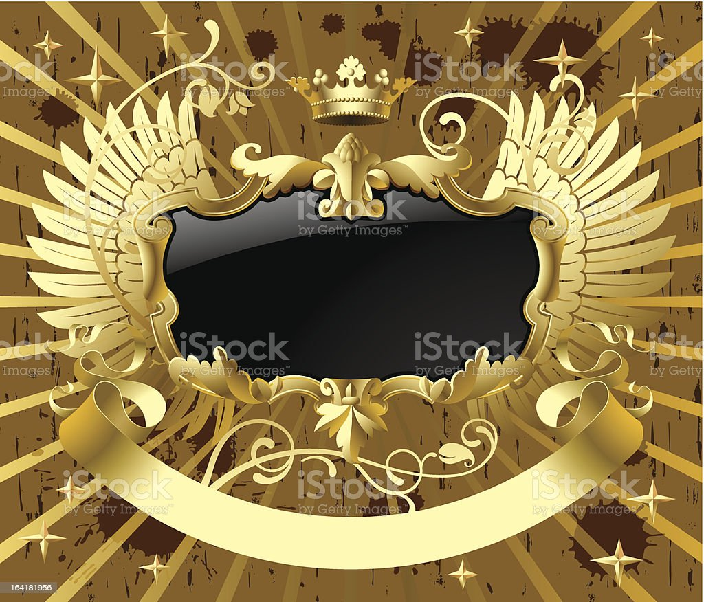 Classic gold-black banner royalty-free stock vector art