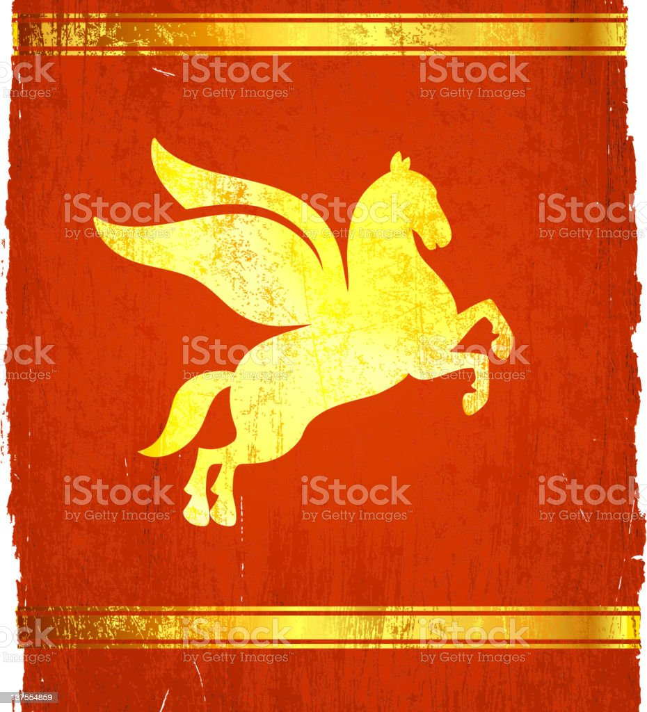 classic Greek Pegasus on royalty free vector Background royalty-free stock vector art