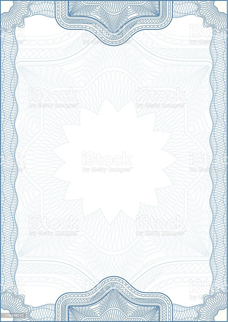 Classic guilloche border for diploma or certificate royalty-free stock vector art