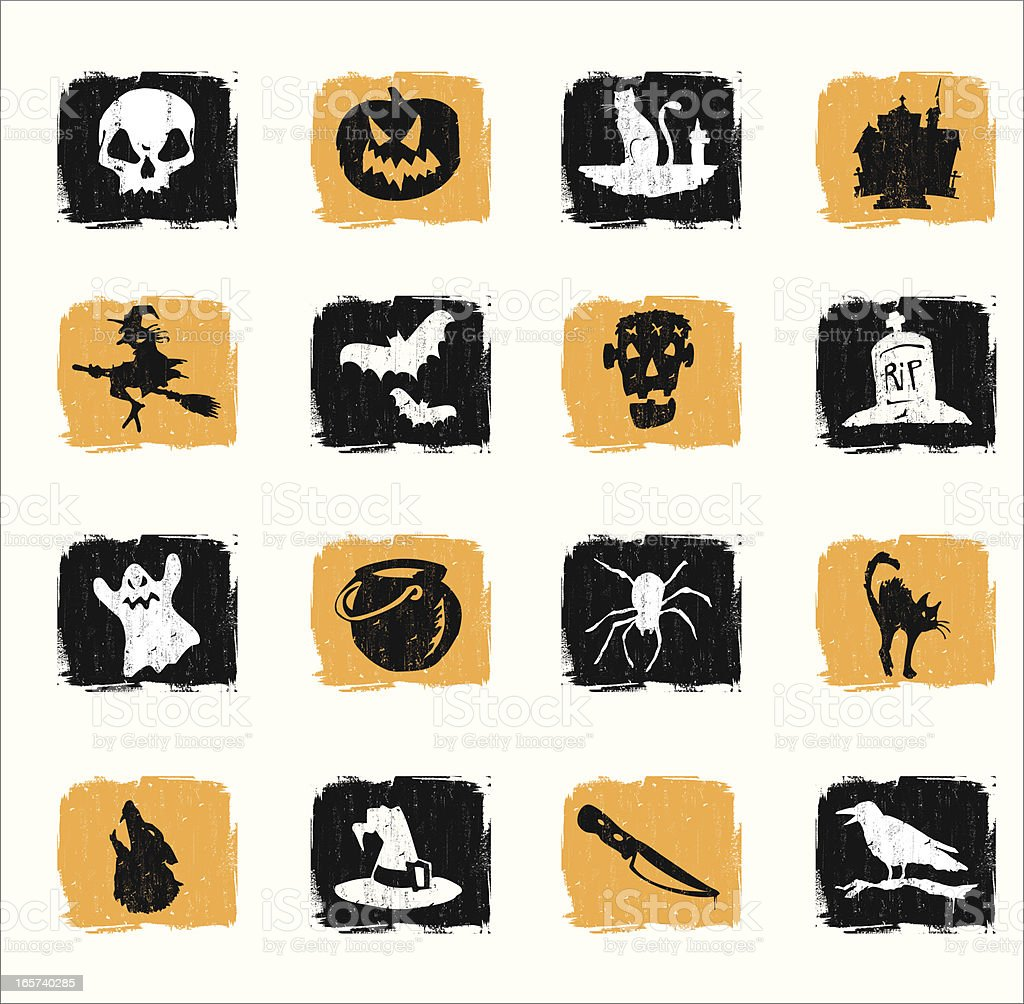 Classic Halloween Symbols royalty-free stock vector art