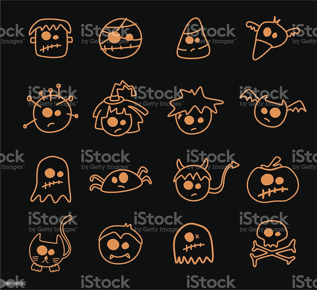 Classic Halloween Symbols royalty-free stock vector art
