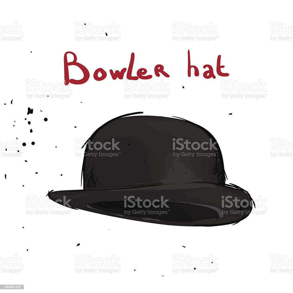 Classic hat royalty-free stock vector art