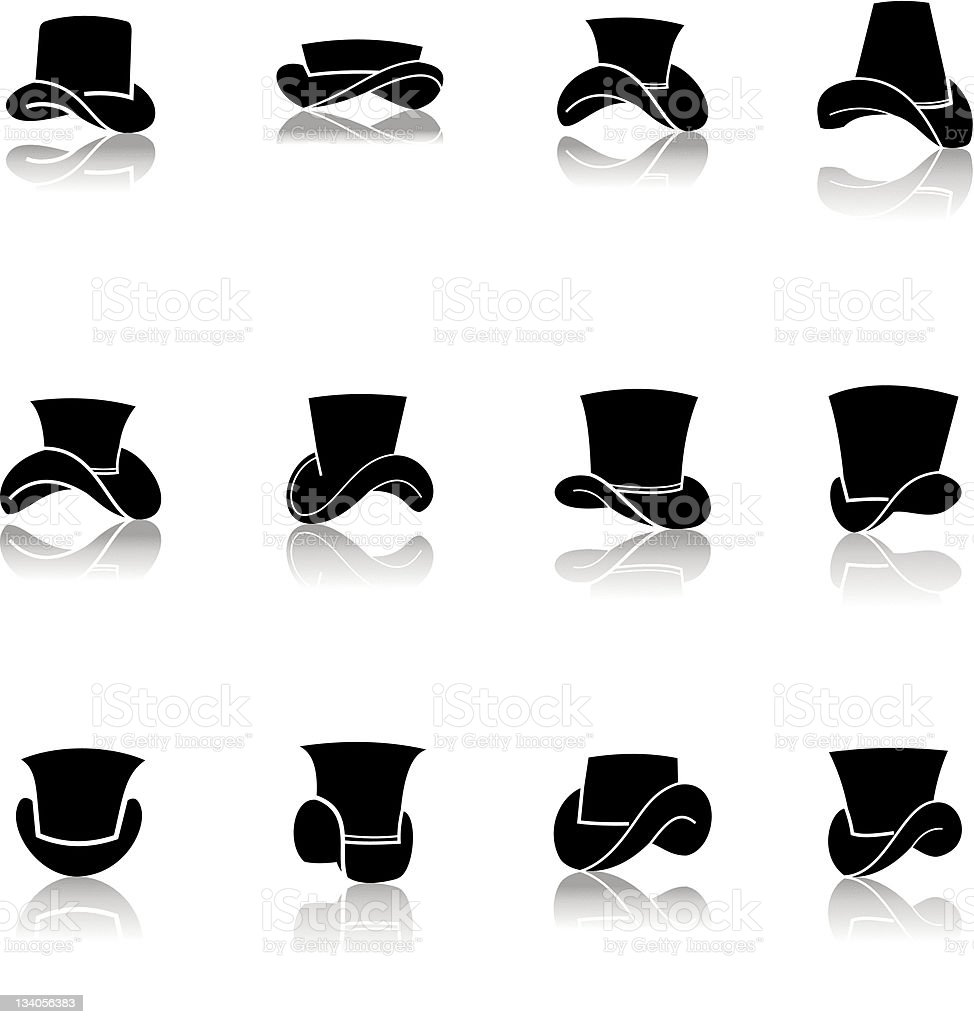 Classic Hat and Cap royalty-free stock vector art