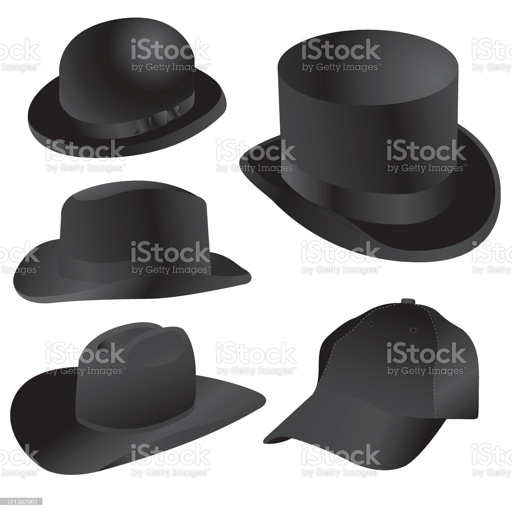 Classic Hats royalty-free stock vector art