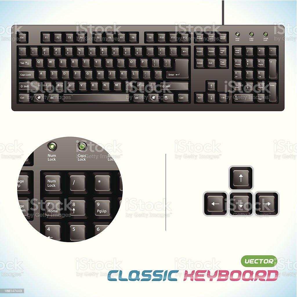 Classic Keyboard royalty-free stock vector art
