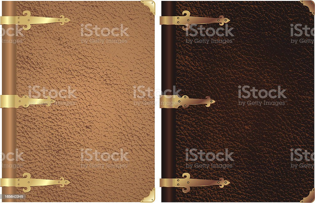 Classic Leather Bookcover vector art illustration