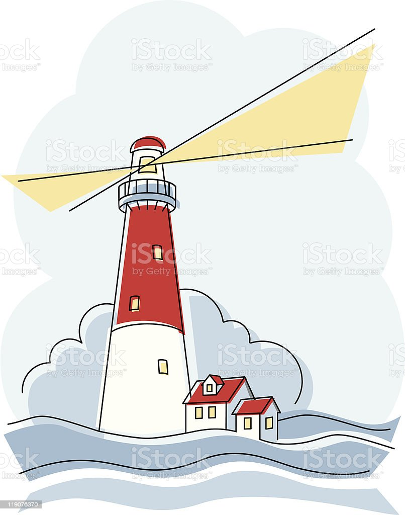 Classic Lighthouse royalty-free stock vector art