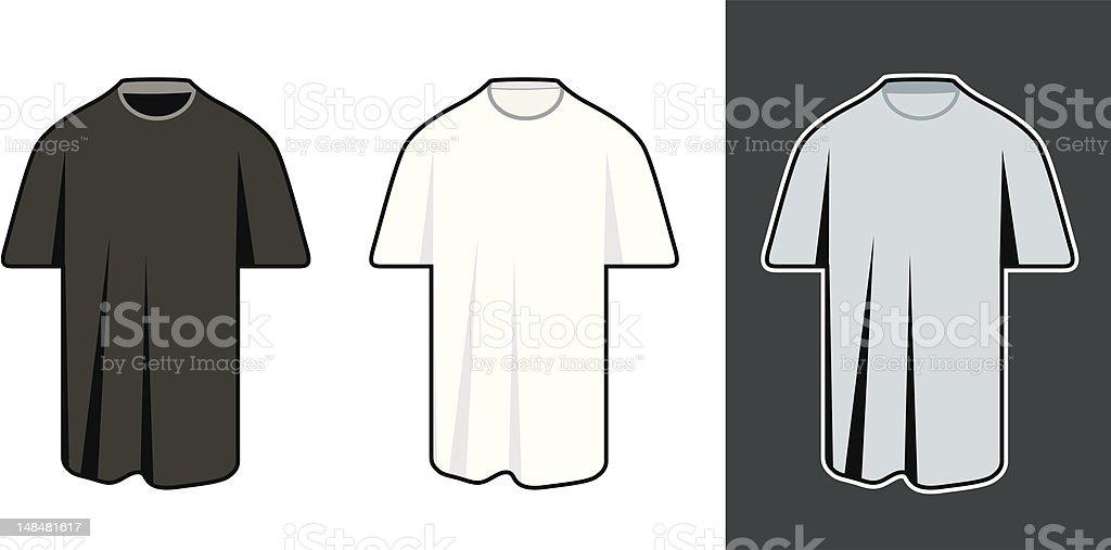 classic mans t-shirt royalty-free stock vector art