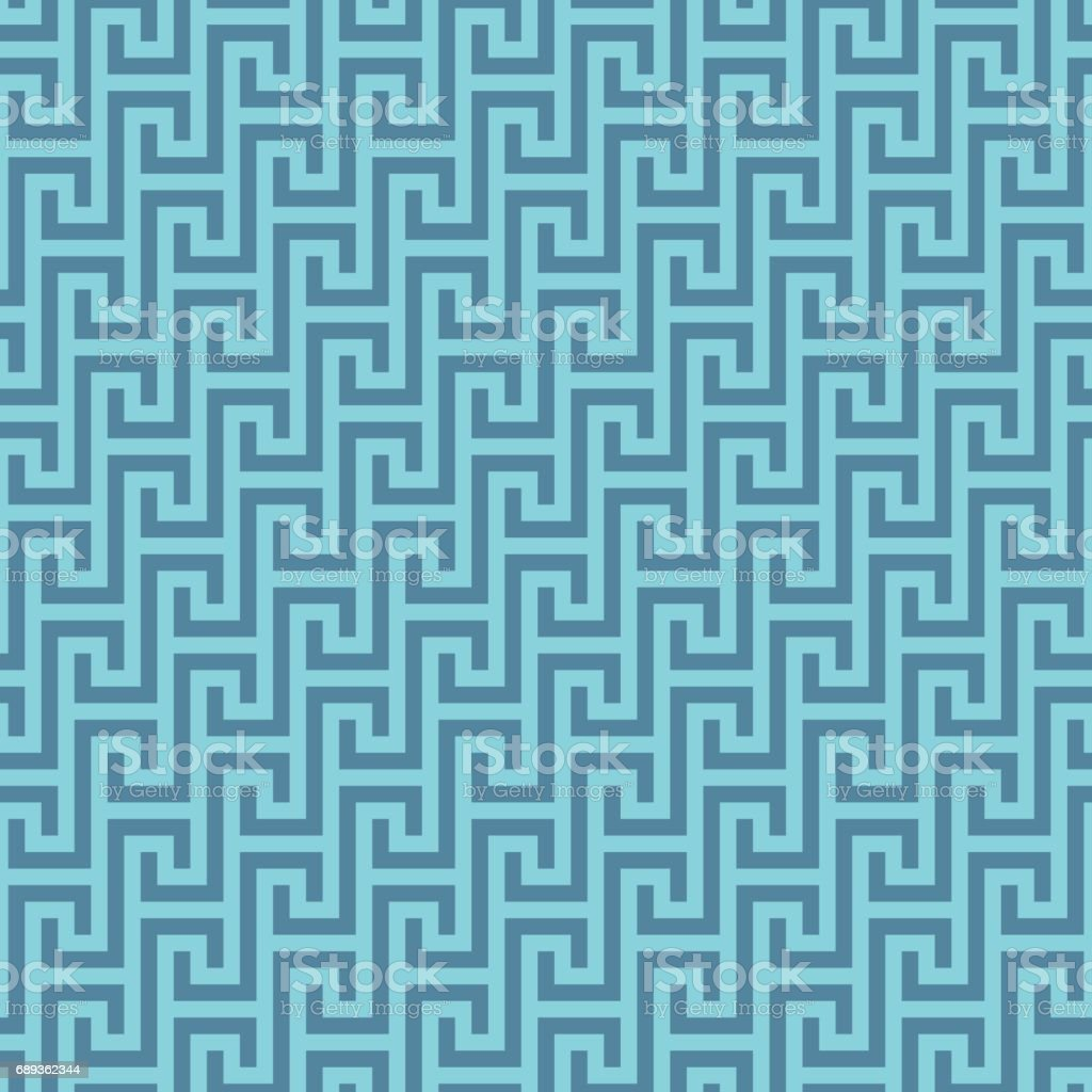 Classic meander seamless pattern. vector art illustration
