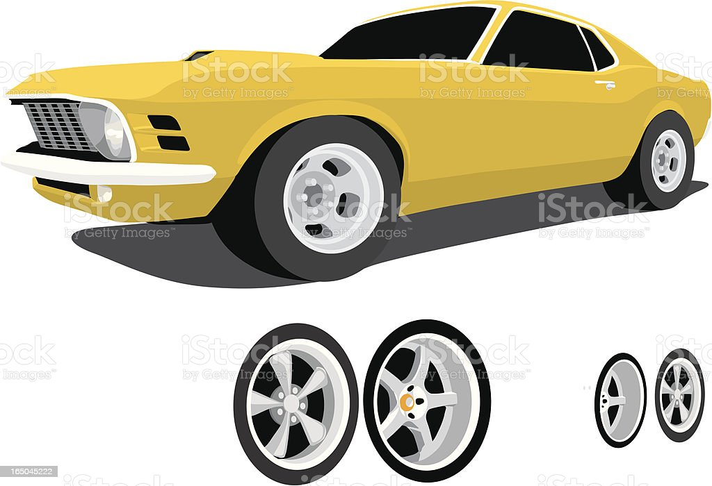 Classic Mustang vector art illustration