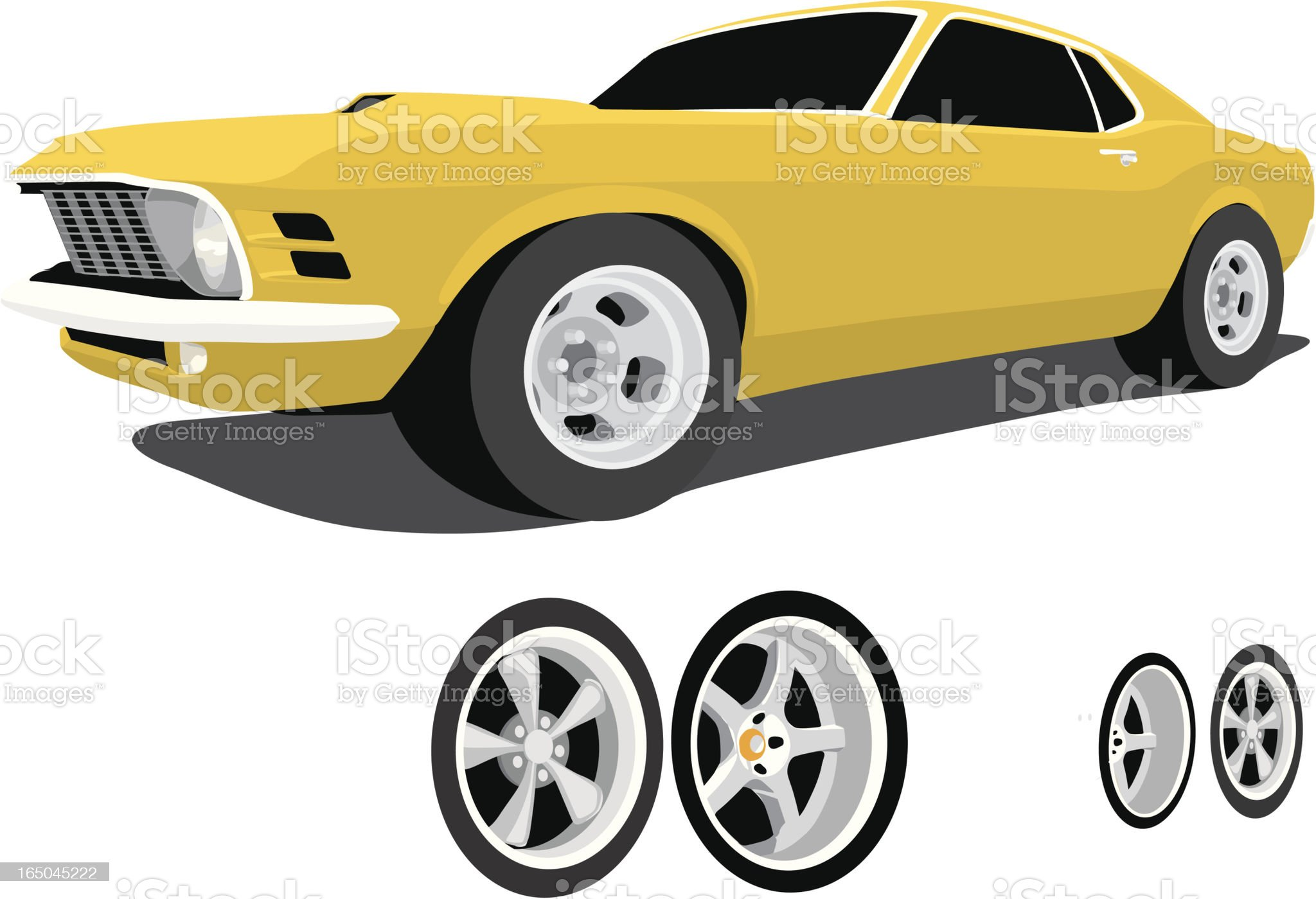 Classic Mustang royalty-free stock vector art