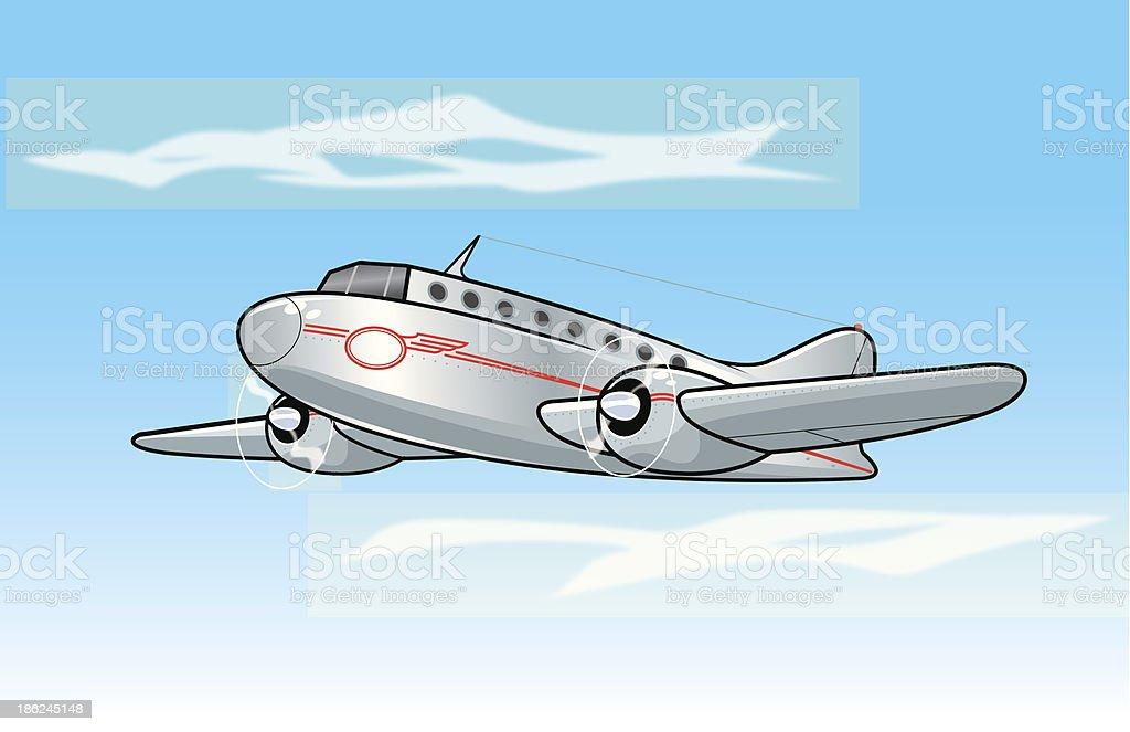 Classic Passenger Airplane royalty-free stock vector art