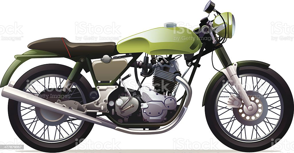 Classic Racing Motorcycle royalty-free stock vector art