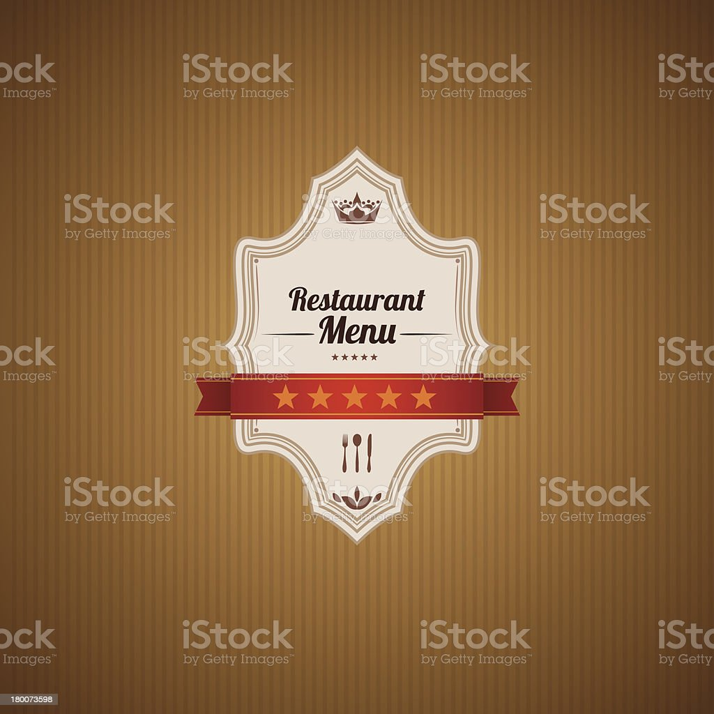 Classic Restaurant Menu Template royalty-free stock vector art