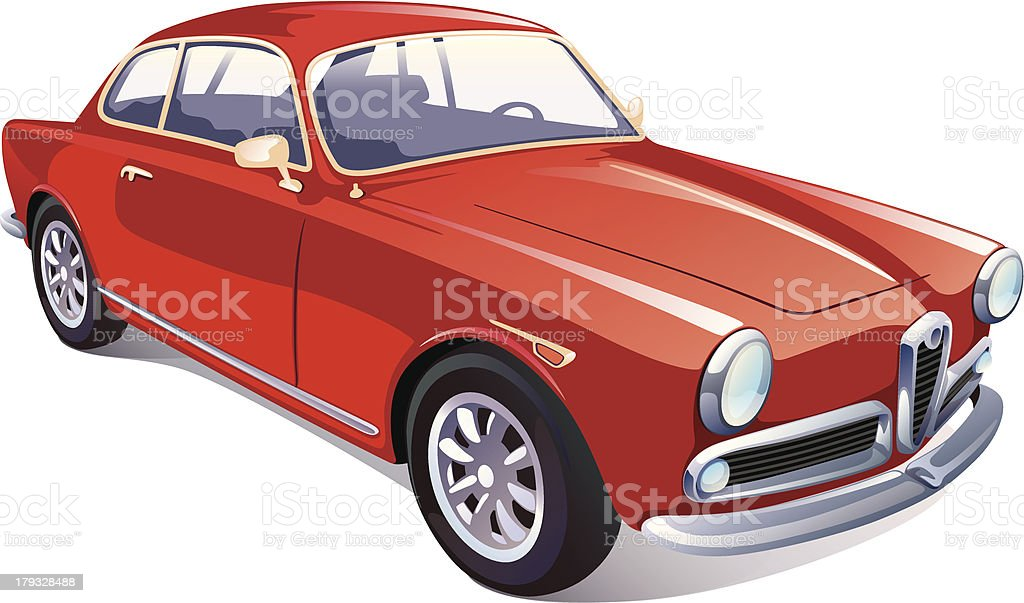 Classic Retro Car royalty-free stock vector art