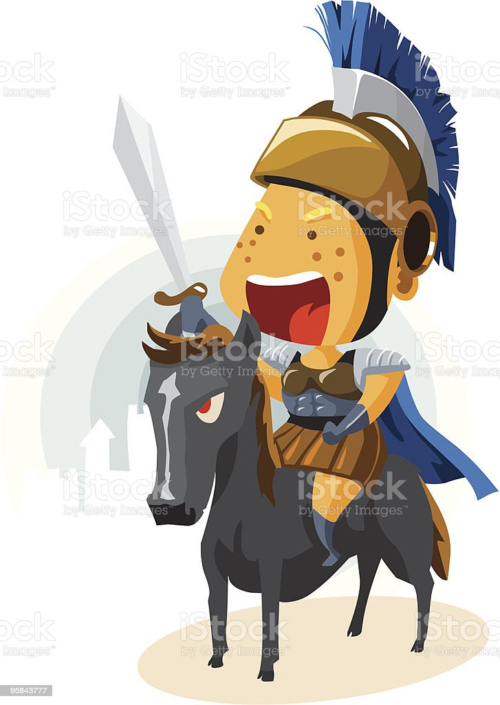 Classic Rome Cavalry royalty-free stock vector art