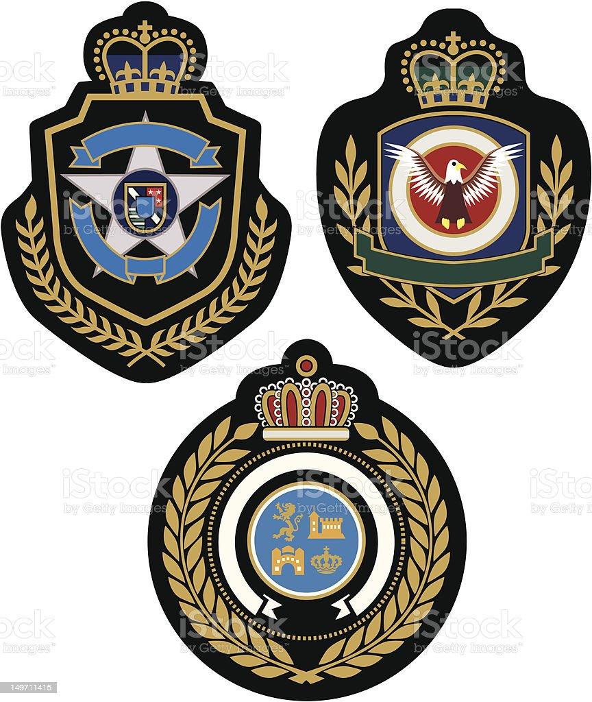 Classico royal badge illustrazione royalty-free