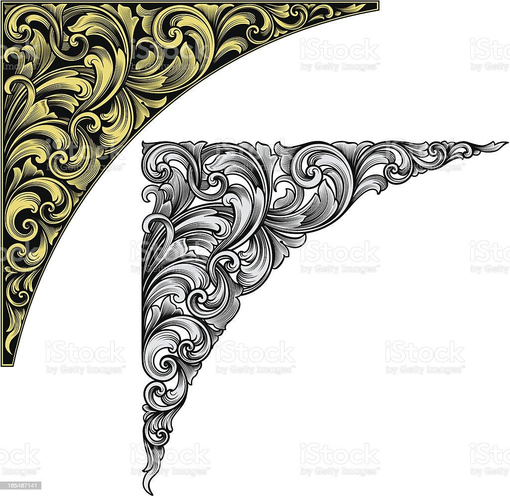 Classic Scroll Corner vector art illustration