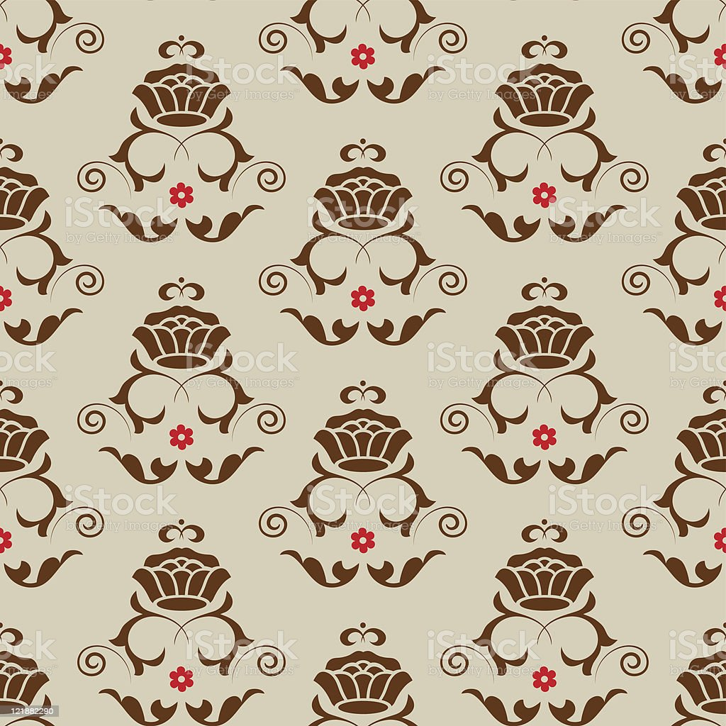 Classic seamless floral ornate background. royalty-free stock vector art