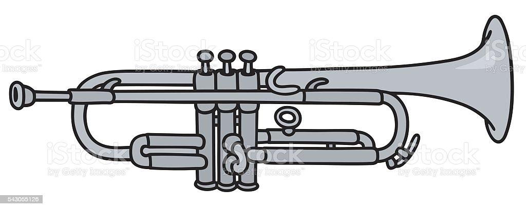 Classic silver frame vector art illustration