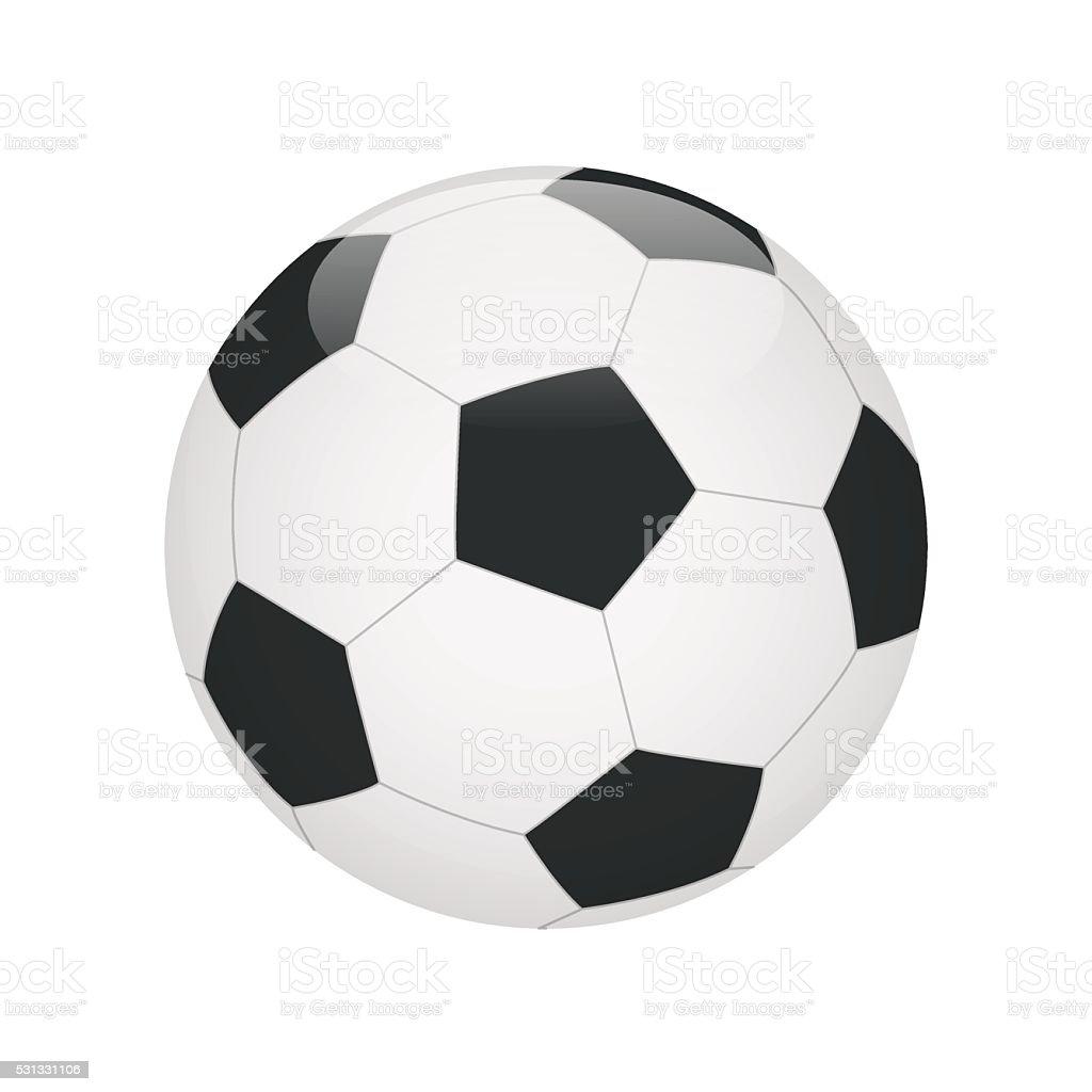 Classic soccer ball isolated on white background vector art illustration