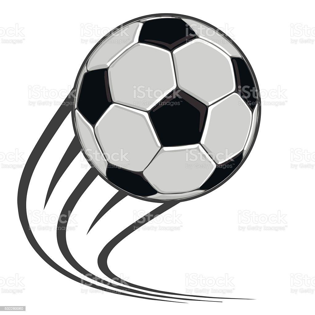 Ballon de football classiques stock vecteur libres de droits libre de droits