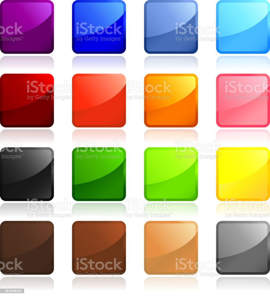 Classic Sticker page blank royalty free vector art royalty-free stock vector art
