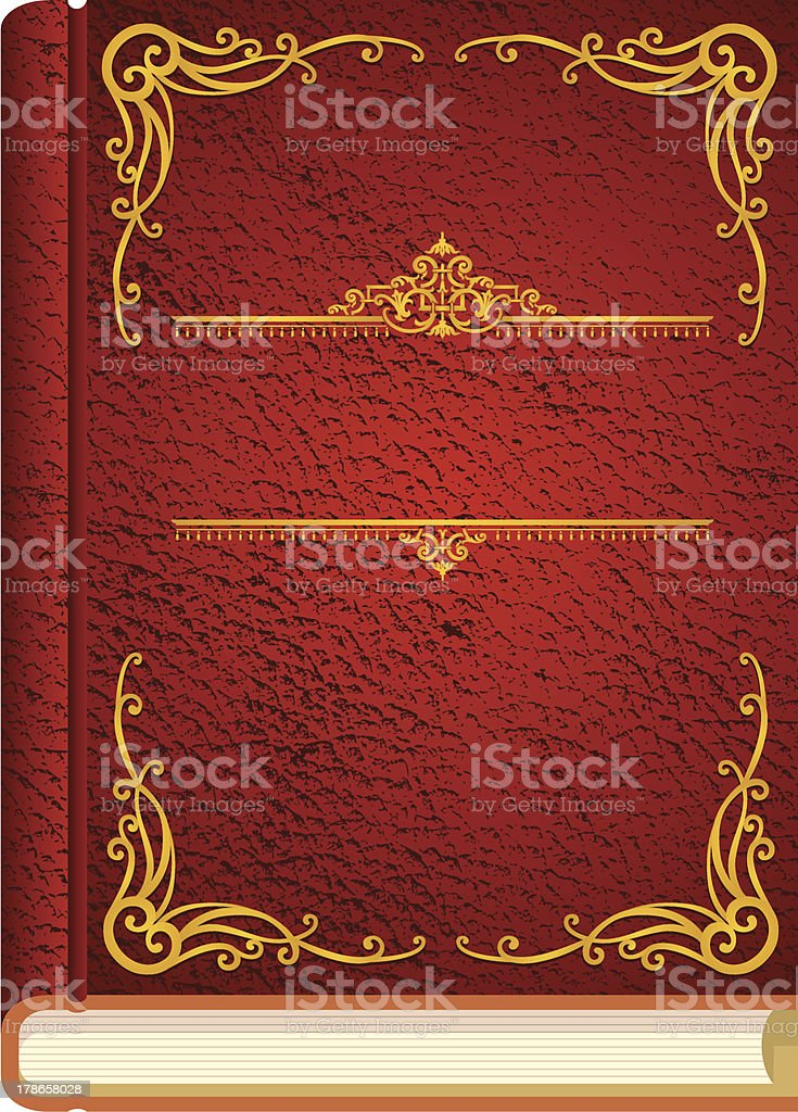 Classic Story Book Cover vector art illustration